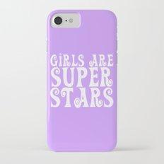 Girls are Super Stars - Purple iPhone 8 Slim Case