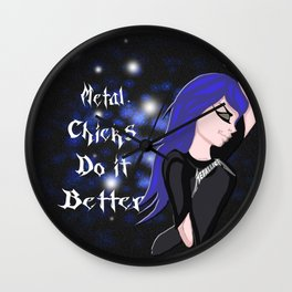 Metal chicks Wall Clock