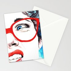 Cara de asco Stationery Cards