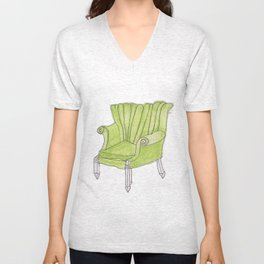green chair Unisex V-Neck