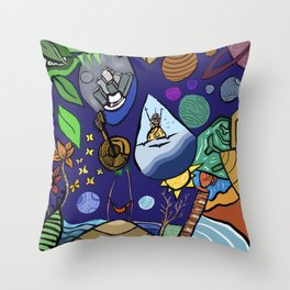 Doodles with procreate 3 Throw Pillow
