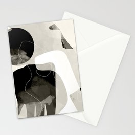 moon shine abstract art Stationery Cards