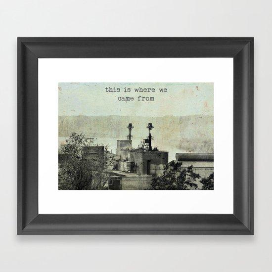 A Reminder Framed Art Print