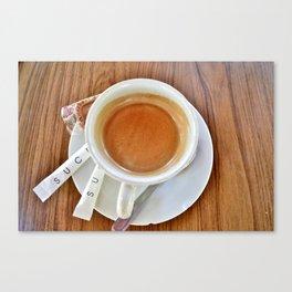 Espresso Sucre Canvas Print