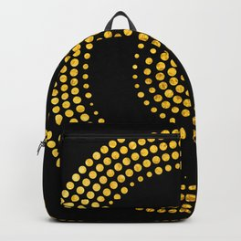 Abstract gold confetti Backpack