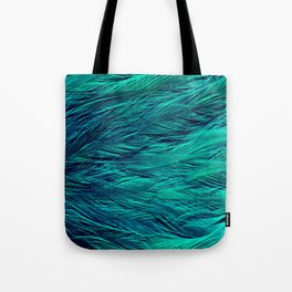 Teal Feathers Tote Bag