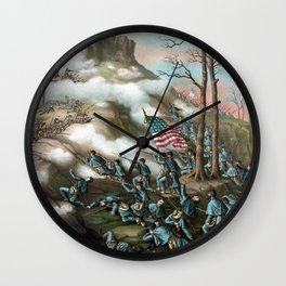 Battle of Lookout Mountain -- Civil War Wall Clock