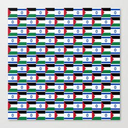 Mix of flag : Israel and Paslestine Canvas Print