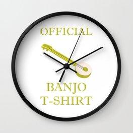 Awesome Banjo's Tshirt Design Official Banjo Tshirt Wall Clock