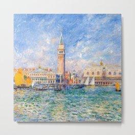"""Auguste Renoir """"Vue de Venise (Le Palais des Doges)"""" Metal Print"""