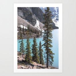 Moraine Lake Vertical Print Art Print