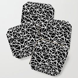 Mozaic Triangle Black Coaster