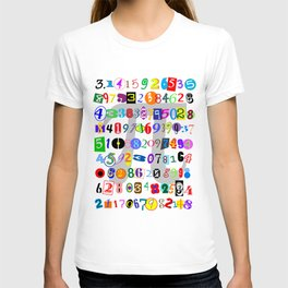 Colorful and Fun Depiction of Pi Calculated T-shirt