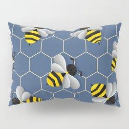 Bumbled Blue Pillow Sham
