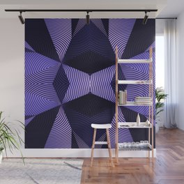 Origami in purple Wall Mural