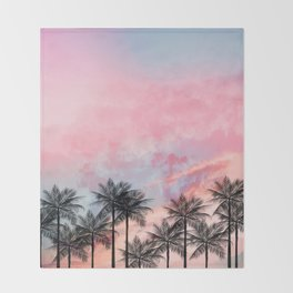 Summer Palm Tree #Society6 #Buyart #Decor Throw Blanket