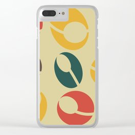 Mid-Century Modern Martini (gold) Clear iPhone Case