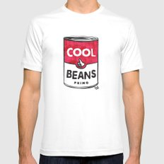 Cool Beans—Pattern! LARGE Mens Fitted Tee White