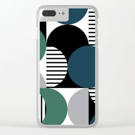 Retro style pattern 3 Clear iPhone Case