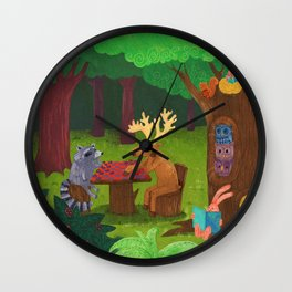 The Forest Wall Clock