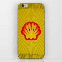 ghost in the shell iPhone & iPod Skins featuring Look! There is a Ghost  in the Shell! by Chris Dk
