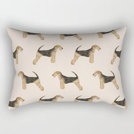 Airedale Terrier pattern dog breed cute custom dog pattern gifts for dog lovers Rectangular Pillow