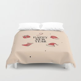 New Year, Cristmas, winter holidays Duvet Cover