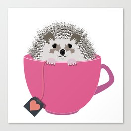 Valentine Heart Hedgehog Canvas Print