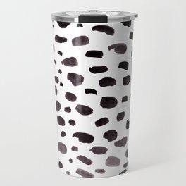Dalmation Spots Painted Watercolor Pattern Travel Mug