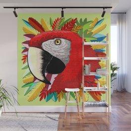 Macaw Parrot Paper Craft Digital Art Wall Mural