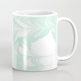 Marble mint 2 Suminagashi watercolor pattern art pisces water wave ocean minimal design Coffee Mug