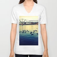 river V-neck T-shirts featuring River by kingseyb