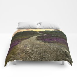 Sunset at Skye Island Comforters