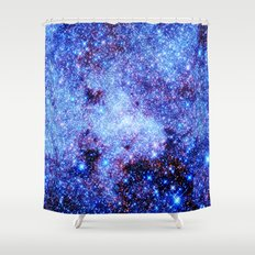 GAlaxy Periwinkle Stars Shower Curtain