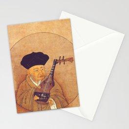 Sesshu Toyo - Self Portrait with a Biwa Stationery Cards