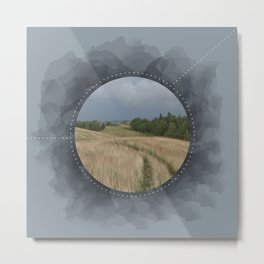 Landscape Series Blue Metal Print