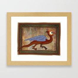 basilisc eye Framed Art Print