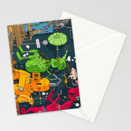 Robot Rampage Stationery Cards