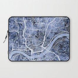Cincinnati Ohio City Map Laptop Sleeve