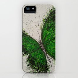 Emerald Butterfly iPhone Case