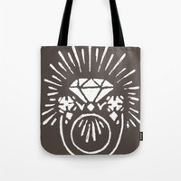 lord of the ring Tote Bags featuring Ring by Shelley Barnes
