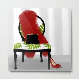 A Woman's Night Out - Dressing room art Metal Print