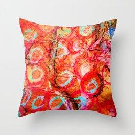 Delhi Bazaar Throw Pillow