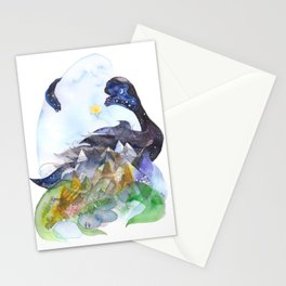 Day, night, mountains, love. Stationery Cards