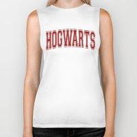 hogwarts Biker Tanks featuring Hogwarts  by DTbase+
