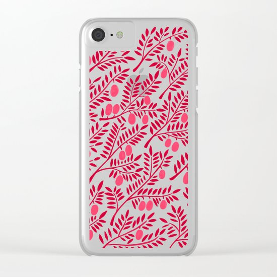 Olive Branches – Fiery Palette Clear iPhone Case