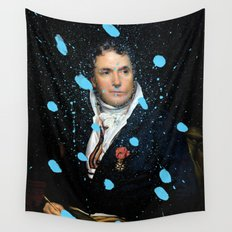 Brutalized Portrait of a Gentleman Wall Tapestry