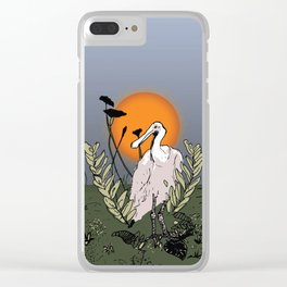 Spoonbill at Dusk Clear iPhone Case