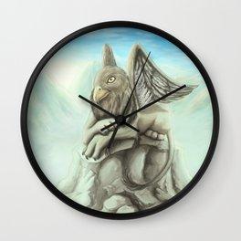 Resting Griffon Wall Clock