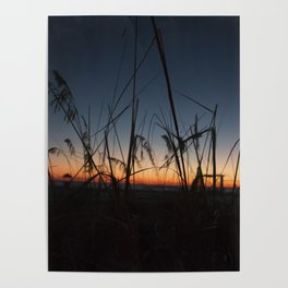 Sunset in the Dunes Poster